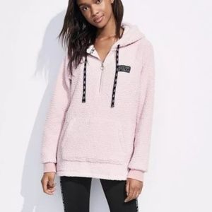 Nip Victoria's Secret PINK Sherpa Pink  Hoodie L